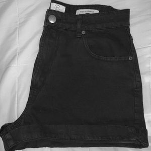 Black Denim Cotton On Shorts